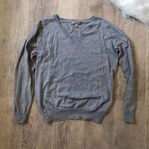 Banana Republic V Neck Grey Sweater